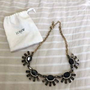J.Crew black fashion statement necklace